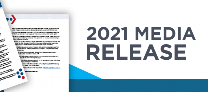 2021 Game On Corporate Cup Media Release