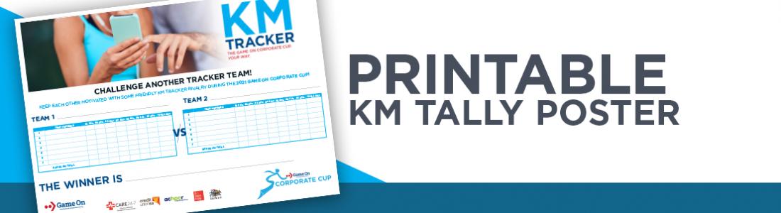 Printable km tally poster