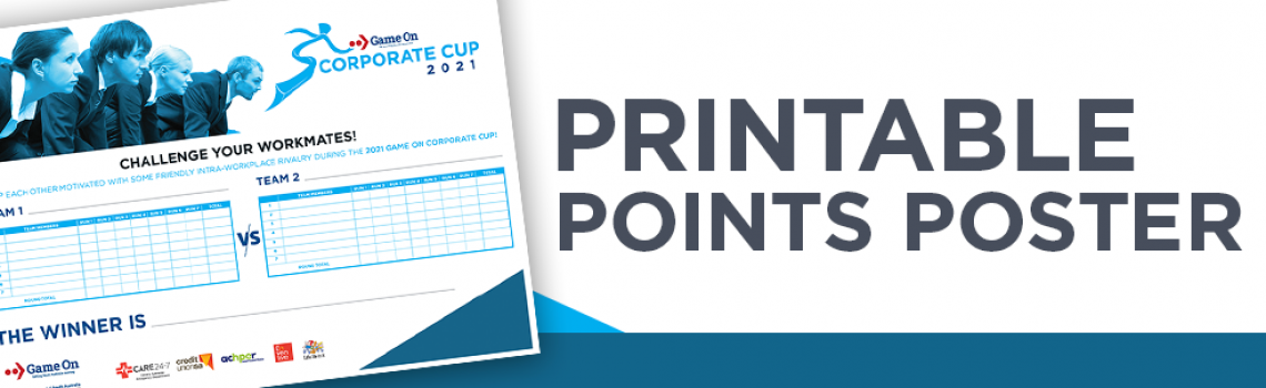 Printable points tally poster
